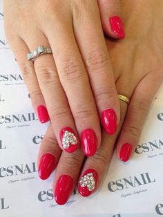 heart nails for v-dayy     Visit my site http://youtu.be/w-eJkLbcOm4     #nails