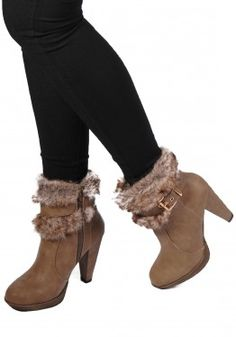 Fur Buckle Ankle Boot, also in Black! Only at www.revuk.com