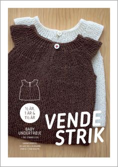 Strikkeopskrift, Baby undertrøje i vendestrik str. Knitting For Kids, Knitting For Beginners, Baby Knitting, Baby Outfits, Diy Projects To Try, Decor Crafts, Little Ones, Knit Crochet, Sewing