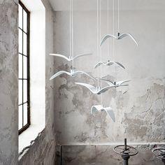 Lampa wisząca Brokis Night birds 75 cm, biała