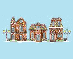 Gingerbread House Cross Stitch Pattern PDF by LastingAllure, $10.00