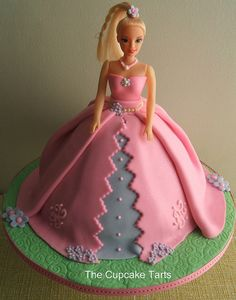 In the photos is this Barbie cake on my birthday. I was 5
