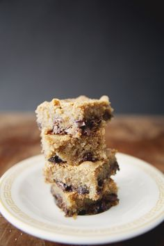 How happy would my kids be if I made these right now?  -- brown sugar chocolate chip blondies