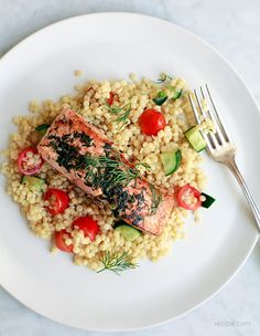 Herbed Salmon with Couscous Salad