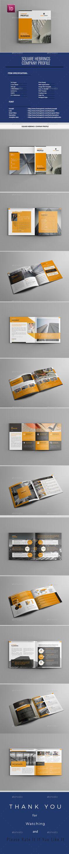 Company Profile - #Corporate #Brochures Download here: https://graphicriver.net/item/company-profile/19514014?ref=alena994