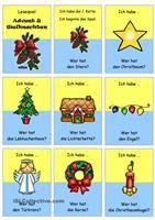Lesespiel _ Weihnachtszeit 1 _ Ich habe...Wer hat...? (...