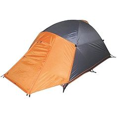 High Peak Outdoors Enduro 4 Season Backpacking Tent (2 Person), Grey/Orange  The enduro is a 2 person 4 season dome camping tent supported with 3 8.5 mm aluminum poles. A mesh door and roofing provide considerable ventilation and Star Gazing ability. A separate rain fly made with PU covered ripstop nylon integrates a big integrated in vestibule providing security from the elements.