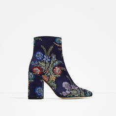ZARA - WOMAN - EMBROIDERED DETAIL ANKLE BOOTS