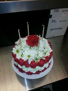 Happy Birthday Michelle I baked you a birthday cake flower