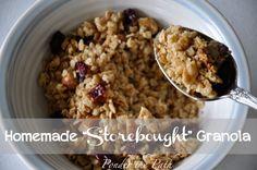 "Homemade ""Storebought"" Granola"