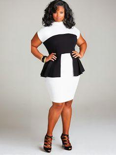 "beautifulblackss: plussizeebony: Anita Marshall in ""CECELIA"". Look Plus Size, Curvy Plus Size, Plus Size Women, Curvy Girl Fashion, Look Fashion, Plus Size Fashion, Fashion Black, Dress Fashion, Xl Mode"