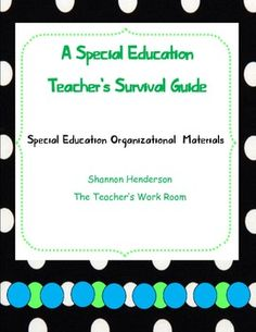 {Special Education Organizational Materials}Contents:Graphic Organizers for Program DesignData Sheet for Student InformationTons of Cover S...