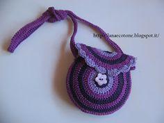 Lana e Cotone (maglia e uncinetto): Borsa all'uncinetto