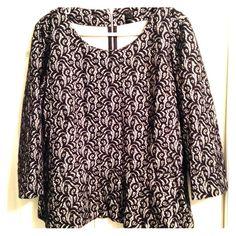 NWOT J.Crew Shirt Never worn, super cute dressy shirt! Has a zipper on the back of the neck! J. Crew Tops Blouses