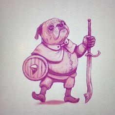 {BoNEZoNE} — A struttin lil pug  #pug #dibujo #drawing #concept...