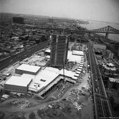Construction de la tour de Radio-Canada, 1970, Montreal 20 photos qui font revivre lhistoire de Montréal (PHOTOS)