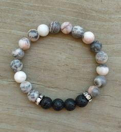 Lava bead bracelet, lava stone bracelet, essential oil diffuser bracelet, oil diffuser bracelet, aromatherapy, aromatherapy bracelet,stretch by BeadedBoutiquebyRM on Etsy