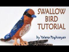 Needle felting tutorial - Needle felting a barn swallow bird - https://www.youtube.com/watch?v=jXsfuyAYw80
