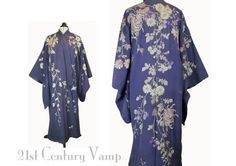 Edwardian Art Nouveau Kimono. 1910s - 1920s Embroidered Silk Robe, made in Japan for Mandel Brothers. Vintage by 21stCenturyVamp