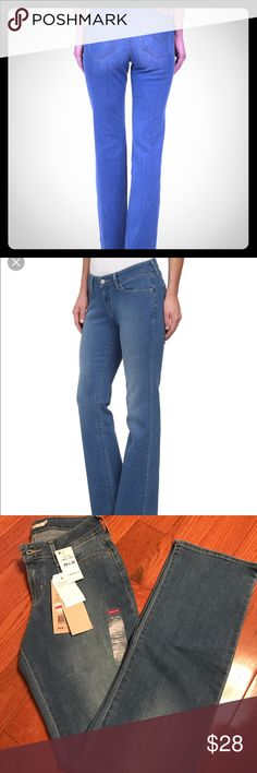 Levi's 815 Curvy Bootcut size 29 inseam 32 Jeans cut and contoured for a sharp shape -- consider these women's Levi's jeans your secret weapon. The 815 lengthens your legs and evens out your silhouette with a classic Bootcut. You'll be the picture of throwback style in these figure-flattering jeans. Crafted with a special mid-rise waistband to prevent gapping and bagginess. With an authentic look and feel, the low stretch denim has just the right amount of give, and will keep its shape over…