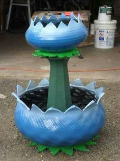 12 Tire Planter Ideas – Make Beautiful Planters From Old Tir.- 12 Tire Planter Ideas – Make Beautiful Planters From Old Tires – Home And Gardening Ideas 12 Tire Planter Ideas – Make Beautiful Planters From Old Tires … - Tire Planters, Flower Planters, Flower Pots, Diy Flowers, Garden Crafts, Garden Projects, Garden Ideas, Tire Craft, Tyres Recycle