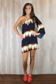 One Shoulder Melting Pot Dress, love