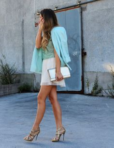 Bright Blazer and dress