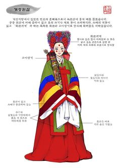 사서인(士庶人)의 예복 : 개성원삼 Korean Hanbok, Korean Dress, Korean Outfits, Korean Traditional Dress, Traditional Fashion, Traditional Dresses, Dynasty Clothing, Korean Painting, Anime Maid