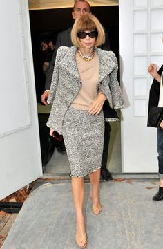 Anna Wintour - Valentino show in Paris