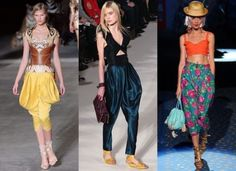 Moda anni 80, i pantaloni larghi e colorati