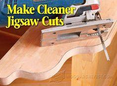 Make Cleaner Jigsaw Cuts -  Jig Saw Tips, Jigs and Fixtures   WoodArchivist.com
