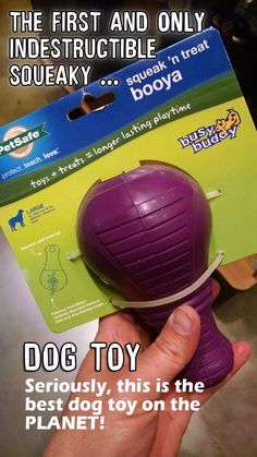 Seriously, this is the BEST indestructible squeaky dog toy on the market.    The best chew toys for aggressive chewers. I have a Jack Russell Terrier and he tears up EVERYTHING. No squeaky toy is safe. Fluff get spread all OVER the house.