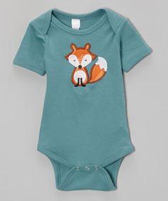 Look what I found on #zulily! Steel Fox Bodysuit - Infant by Petunia Petals #zulilyfinds