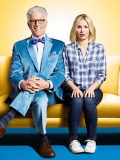 The Good Place NBC Premieres: Monday, Sep. 19 at 10:00 PM Stars: Kristen Bell, Ted Danson, Jameela Jamil, William Jackson Harper, Manny Jacinto, D'Arcy Carden Producers: Mike Schur, David Miner Premise: When Eleanor (Bell) realizes that she's not a very good person, she gets a chance to start anew with the help of Michael (Danson) in the afterlife.