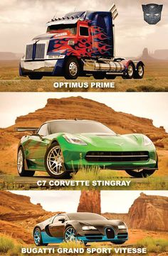 """Transformers 4 The Bugatti is the autobot """"Drift"""" The corvette stingray is """"cross hairs"""""""