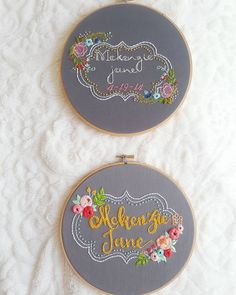"454 Likes, 9 Comments - ✂Hand Embroidery for the home✂ (@thekitschystitcher) on Instagram: ""Out with the old, in with the new! Here is a side by side comparison of my design when I first made…"""