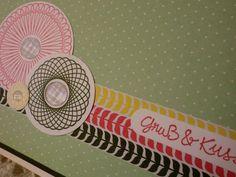 Liebe & Freundschaft - Gruß & Kuss - Grußkarte - ein Designerstück von kreativesherzerl bei DaWanda