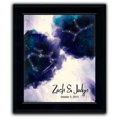 Such a cool personalization - Names, date and your Zodiac signs. Valentine Day Gifts, Valentines, Thing 1, Finding True Love, One Image, Romantic Gifts, Fine Art Paper, Zodiac Signs, Personalized Gifts