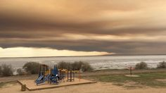 Smoke from wildfires blankets the northern Saskatchewan community of La Loche on May 7.