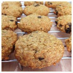 Oatmeal raisin soft baked cookies..