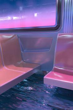hayden williams envisions dystopian 'world underwater' in shimmering pink Sky Aesthetic, Aesthetic Themes, Purple Aesthetic, Aesthetic Collage, Aesthetic Vintage, Aesthetic Photo, Aesthetic Pictures, Aesthetic Pastel Wallpaper, Aesthetic Backgrounds