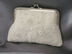 Wedding Bridal Framed Clutch Purse Vintage by oldintonewcouture,