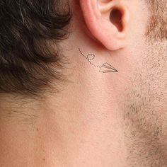 High quality fashionable temporary tattoos : a flying origami plane