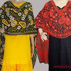 सपर जरजट हणडएमबरयडर सटलस with पलन सट Super #Georgette Hand Embroidery #Stoles with Plain #Suit For More Colourshttp://www.jankiphulkari.com/super-georgette-handicraft-stoles