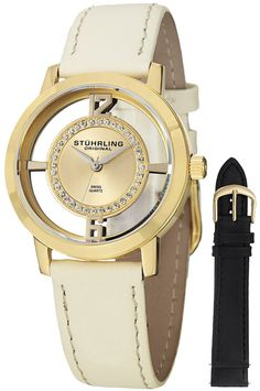 9f8449f9349e watch Gold watches for women Stuhrling Original Women s Winchester Tiara 23  Yellow Gold-Plated Stainless Steel and Swarovski Crystal Watch with  Additional ...