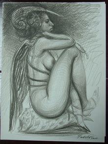 Crouching Nude  Roberto Fabelo