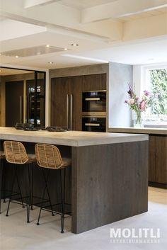 » Binnenkijker: keuken Zeist Cozy Kitchen, Kitchen Dining, Kitchen Decor, Apartment Interior Design, Kitchen Interior, Black Kitchens, Home Kitchens, Asian Interior, Appartement Design