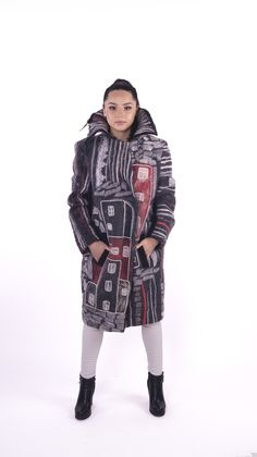 wool #felted #coat #overcoat by Nadin Smo design