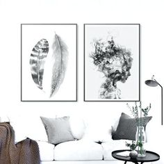 Abstract Art Nordic Poster Black And White Posters And Prints Canvas Painting Feather Wall Pictures For Living Room Unframed – Nordic Wall Decor Canvas Art Prints, Canvas Wall Art, Wall Art Prints, Poster Prints, Canvas Paintings, Black And White Posters, Black And White Wall Art, Black White, Feather Wall Art