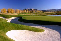 Bunker Behind 8th Green | 3 Creek Ranch Golf Club